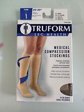 Truform 8865 Compression Stockings 20-30 Mmhg Below Knee Closed Toe Beige XL New
