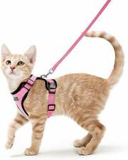 "Cat Harness Reflective Walking Kitten Harness Adjustable 59"" Leash Supply Tools"