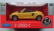 WELLY TOYOTA MR2 SPYDER YELLOW 1:34 DIE CAST METAL MODEL NEW IN BOX