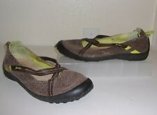 Jambu Brown Leather Criss-Cross Flats Size 9 Shoes Loafers