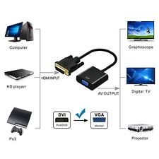 Top 1080P DVI-D to VGA Adapter Cable 24+1 Pin DVI Male to 15 Pin VGA Female