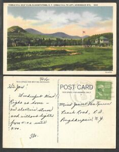 1951 Golf Course Postcard - Sports - Elizabethtown, New York - Cobble Hill