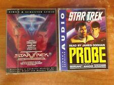 Lot of 2 Star Trek Audio Books -Star Trek V the Final Frontier & Star Trek Probe