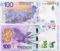 REPRODUCTION ARGENTINA 2015 SET x 2 NOT ISSUED NOTES 20 /& 100 Pesos COPY