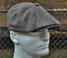 Wool Tweed Newsboy Hat Gray Gatsby Ivy Cap Driving Black Brown Flat Cabbie xxl