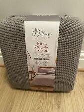 Brand new Just Wellness By George Single Duvet Set 100% Organic Cotton Grey