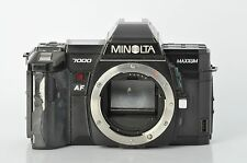 Minolta 7000 35mm SLR camera / sold as is / for repairs / parts