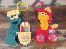 RETRO SESAME STREET RATTLE CHILDREN'S BABY TOYS Cookie Monster Big Bird