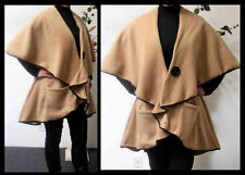 Designer Warm Cozy Poncho,Travel Cape in Polar Fleece in Plus Size.