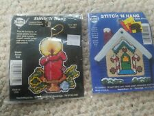 NMI  Stitch' N Hang Gingerbread + Candle Unopened Cross Stitch Kits Made in USA