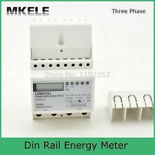 Small 3 phase MK-LEM022SJ mini Din Rail Electronice Energy Mete