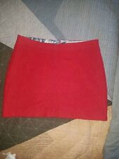 Essaye by Surface Art red wool skirt XL
