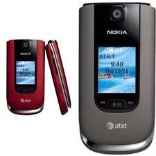 Original Unlocked Nokia 6350 2G GSM 3G HSDPA Gray&Red Color Flip Cell phone