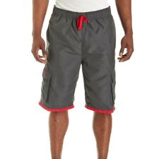 U.S. Polo Assn. Mens Cargo Boardshorts Swim Trunks With Embroidered Logo Large
