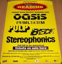 "OASIS STEREOPHONICS ""READING"" FESTIVAL POSTER 2000 'FULL BILL TO BE ANNOUNCED'"