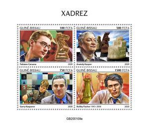 Guinea-Bissau Chess Stamps 2020 MNH Garry Kasparov Bobby Fischer Sports 4v M/S