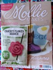 Mollie Makes Magazine Issue 77 Crochet Bunny Dachsund Cushion Easter Ideas