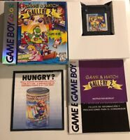 Game & Watch Gallery 2 (Nintendo Game Boy Color, 1998) COMPLETE w/ Box manual