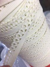 White / Cream Lingerie Elastic W Picot Edge Bra Trim 18mm Woven 2 Metres