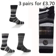 Mens 3 pairs Giovanni Cassini Socks berlin size 6-11 £3.70 for 3 pairs bargain