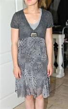 adorable gress robe grise bi matière HYBRIS taille 3 (38-40)  EXCELLENT ÉTAT