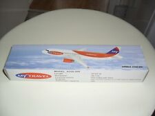 1:200 MY TRAVEL AIRWAYS  - Airbus A320-200 PLASTIC AIRCRAFT PUSH FIT MODEL PLANE
