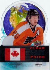 Claude Giroux 2012-13 UD Clear Cut Pride of Canada 25/100 Philadelphia Flyers