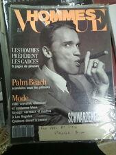 Vogue Hommes n°146 fév 92 schawarzenegger lagarfeld dior chanel valentino armani