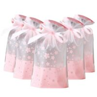 50 PCs Party Favor Bags, Plastic Dstring Gift Treat Bag Pouch, Candy CookieG6S9