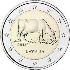 Lettland 2 Euro Gedenkmünze 2016 bfr Milchwirtschaft Münze Lettische Braune Kuh