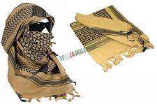 Shemag Kefiah Sciarpa Militare Desert TAN Sabbia e Nero