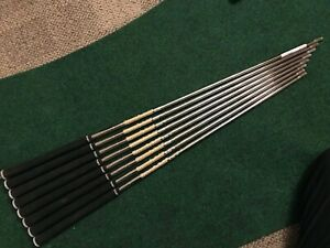 """Lightly Used Dynamic Gold 105 (S300) Iron Shafts 4-GW  .355"""" tip"""