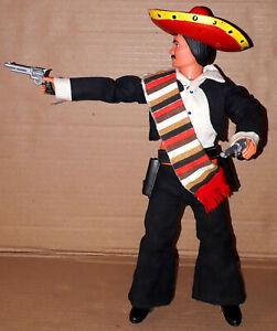 Vintage 70's Marx/Gabriel Lone Ranger UK Exclusive Mexican EL LOBO Action Figure