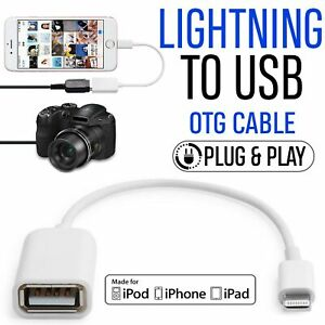 8 Pin to USB Camera Connector Adapter Cable OTG For iPhone 7 6 Plus 5 iPad