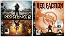 Resistance 2 & Red Faction Guerrilla Perfect UK Bundle Shooters 2 Awesome PS3