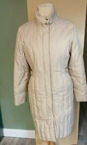 M&S Feather & Down Long Puffa  Winter Coat Blonde  Size 12/14 Ladies Womens