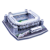 3D Santiago Bernabé Football Field Model Puzzle Self Assembled Adults Hobby Art