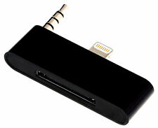 BLK iPhone 5 5S 5C to iPhone 4 4S Dock Audio Adapter Converter 30 Pin to 8 Pin