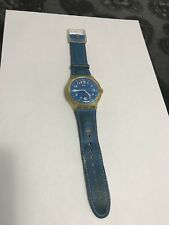 OROLOGIO SWATCH X LARGE OCEAN RIPPLE SUDK103 2001 2002 VINTAGE RARE LEATHER