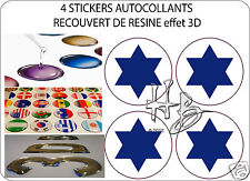ISRAEL  Force Aérienne Avion Cocarde 50mm Sticker Autocollant X4 en resine
