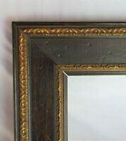 "Vintage Fits 8""x10"" Dark Oak Gold Gilt Ornate Victorian Country Primitive Frame"