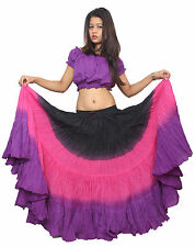 Wevez 25 Yard Three Color Indian 100% Cotton Gypsy Boho Belly Dancing Skirt