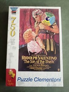 BN RUDLOPH VALENTINO in THE SON OF THE SHEIK 750 PIECE JIGSAW PUZZLE CLEMENTONI