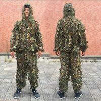 Outdoor Ghillie Suit Camouflage Clothes Jungle Suit Leaves Clothing Hunting Suit
