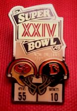 Vintage Nfl Super Bowl Xxiv (24) Starline Collector Set Pin: 49ers vs Broncos