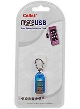 Cellet Super Small Blue microSD / microSDHC Card Reader