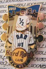 2013 HARD ROCK CAFE NEW YORK (YANKEES) FATHERS DAY/SON GUITAR HEADSTOCK LE PIN