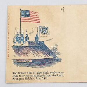 Antique Civil War Envelope 66th New York Infantry Regiment D Murphy's & Son