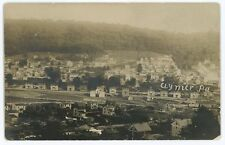 RPPC PRR Railroad Depot Line at CLYMER PA Indiana County Real Photo Postcard