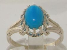 Turquoise Solitaire Natural Fine Rings